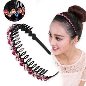 Women-039-s-Bead-Crystal-Shiny-Party-Hairband-Teeth-Headband-Hair-Hoop-Accessories