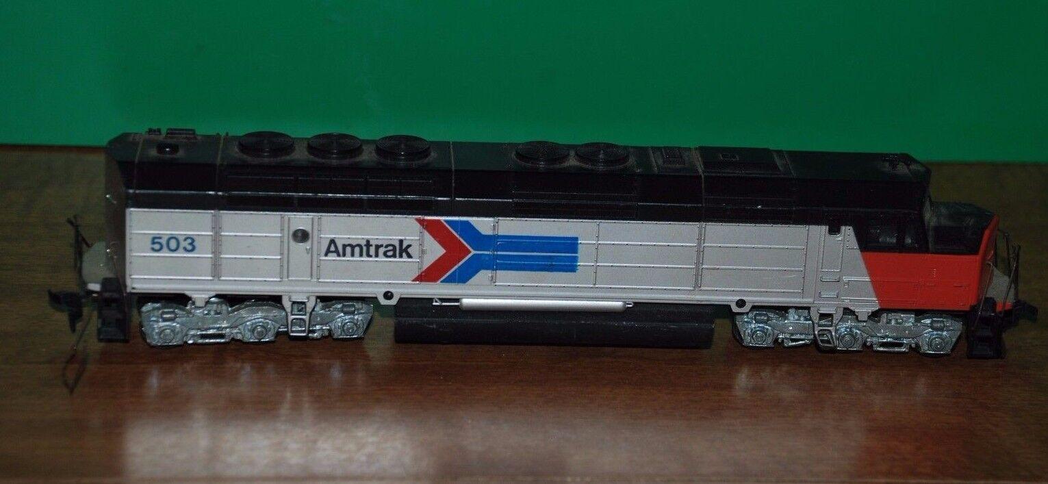 Vintage Ho Scale Model Train Amtrak Locomotive 503
