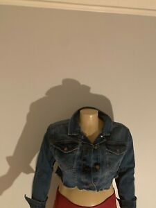 NWT Wild Fable™ Women/'s Black Destructed Denim Jean Jacket