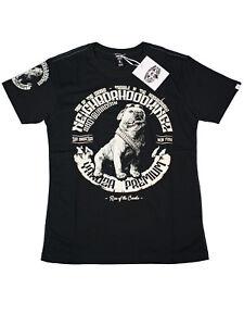 Yakuza-Premium-T-Shirt-YPS-2509-Neighborhood-Kingz-Kampfhund-Schwarz-5066