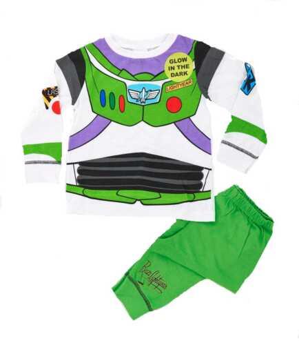 Kids Boys Disney Buzz Lightyear Fancy Dress Up Costumes Pyjamas Size  1-8 Years