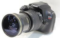 Super Ultra Wide Angle Macro Fisheye Lens For Canon Eos Rebel 1300d 1100d T5