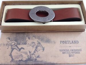 Portland-Vintage-Tan-Rugby-Belt-Beer-Opener-Buckle-Men-Present-Gents-Gift