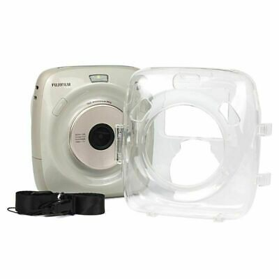 Transparent Camera Bags Cases Protective Crystal Shell Case with Strap for FUJIFILM instax Square SQ10 Color : Transparent