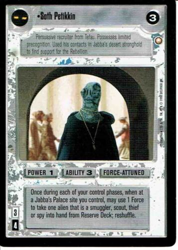STAR WARS CCG SPECIAL EDITION LIGHT SIDE RARE SOTH PETKIN