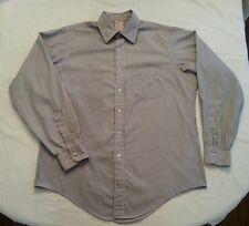 Brooks Brothers Makers Mens Long Sleeve Shirt Size 16-5  Blue White Striped EUC