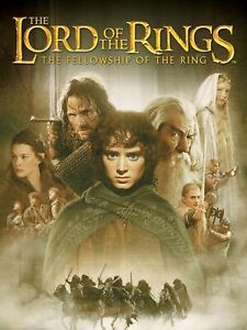 The Lord of the Rings The Fellowship 35mm Film Cell strip very Rare var_e