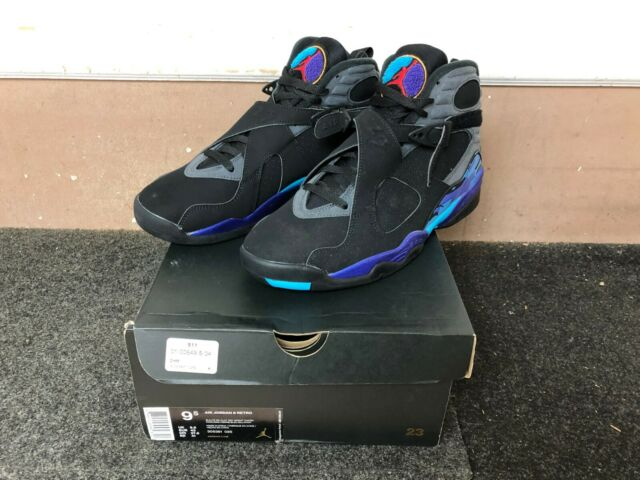 innovative design b2e4c 8eb61 2015 Jordan 8 Retro Aqua Size 9.5 Black Grey Concord Grape 305381-025  Sneakers