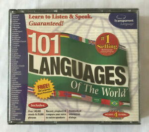Vintage-Transparent-Language-101-Languages-of-the-World-CD-ROM-4-CD-Set