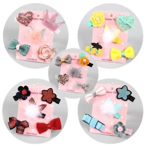 5Pcs-Lot-Hairpin-Baby-Girl-Hair-Clip-Bow-Flower-Mini-Barrettes-Star-Kids-Infant