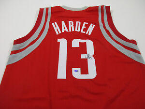 sale retailer 31972 7484b Details about James Harden Signed Red Houston Rockets Jersey / 5× NBA  All-Star (2013–2017) COA