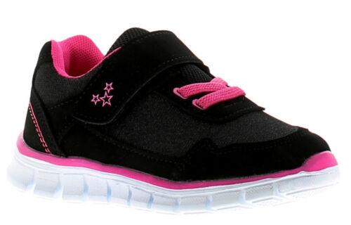 Focus Nina Girls Kids Trainers Black//Pink UK Size