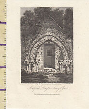 1807 ANTIQUE SMALL GEORGIAN PRINT ~ STRATFORD LANGTON ABBEY ESSEX
