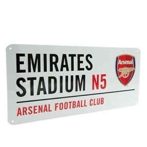 FOOTBALL-STREET-SIGN-Metal-Door-Sign-14-Clubs-Official-Club-Merchandise