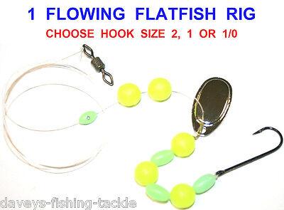 FLOWING FLATFISH FLATTIE SEA//BOAT FISHING RIG,FLOUNDER,PLAICE,DAB,SIZE,1//0 OR 2