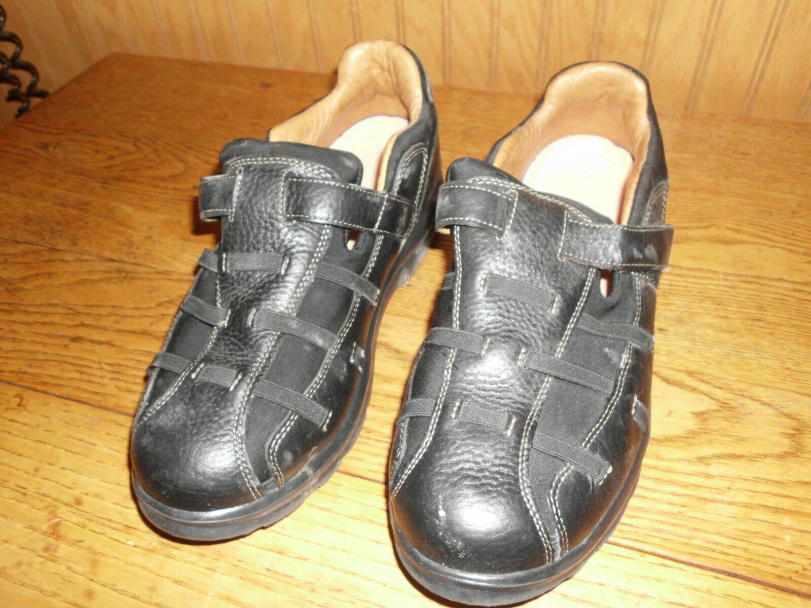 Dr. Comfort Betty Black Leather Therapeutic Diabetic Shoes US 9 W