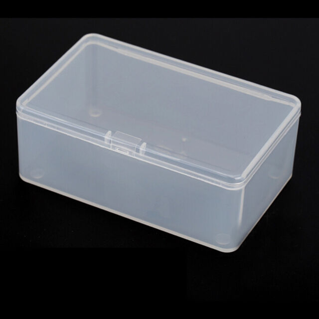 Plastic Clear Transparent With Lid Storage Box Collection Container Case IO