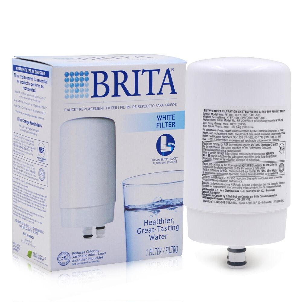 Brita On Tap Faucet Replacement Water Filter FR-200 White Fi