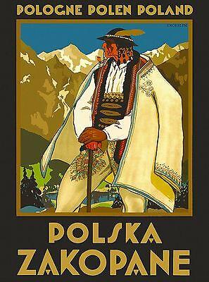 High Tatras  Czech Republic Europe European Travel Advertisement Art Poster