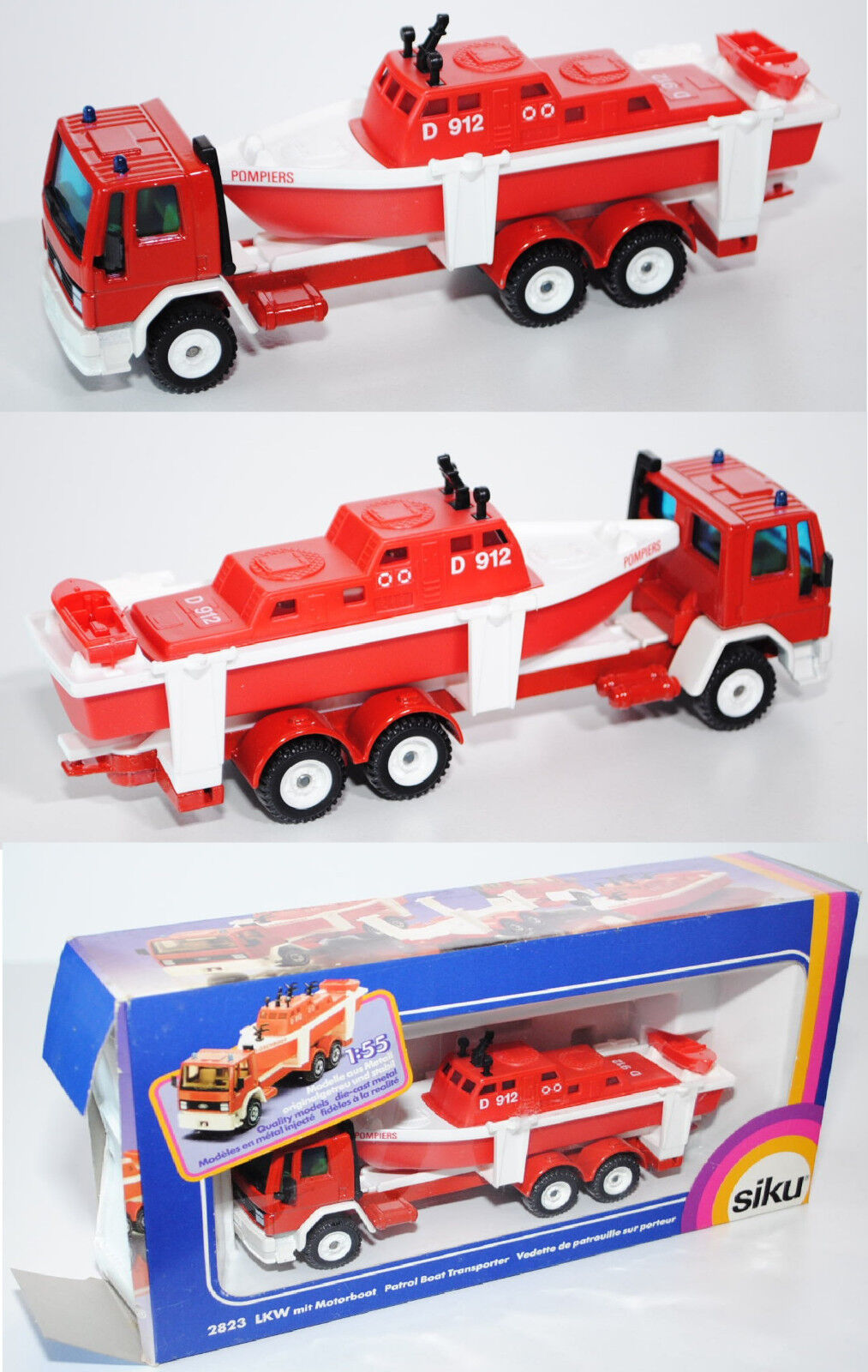 Siku Super 2823 00100 ford cargo con motor barco, Pompiers d 912
