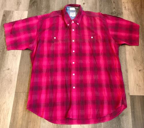 Vtg 80s 90s CHAPS RALPH LAUREN Shirt L Plaid Butt… - image 1