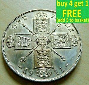 George-V-Florin-deux-Shillings-argent-pieces-choisissez-votre-date-1910-1936-Choix