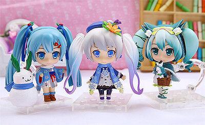 hatsune miku snow miku pvc figure collection gift toy set of 3pcs figures new