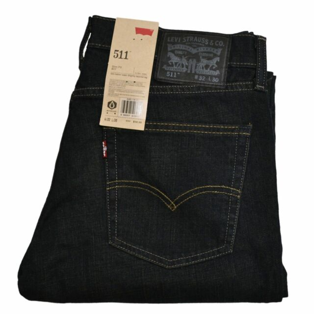 Levi's Mens 511 Slim Jeans 30w X 32l 32 Clean Dark Denim ...