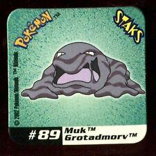 Ω STAKS MAGNET AIMANT POKEMON (Used) N°  89 GROTADMORV MUK