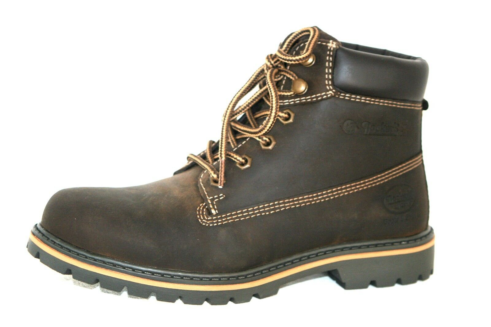 Dockers Boots Wanderschuhe Stiefel Bergsteigerstiefel braun Leder Herren