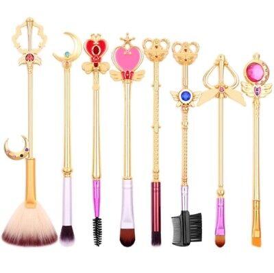 Anime Japan Sailor Moon Card Captor Sakura Makeup Brushes Wand Kawaii For Girls