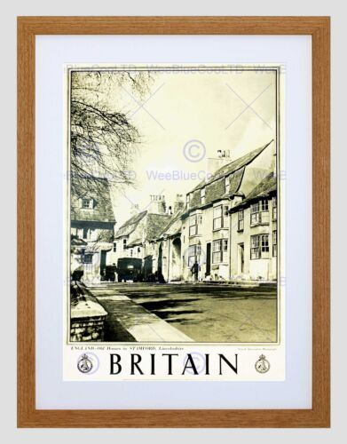 TRAVEL STAMFORD LINCOLNSHIRE ENGLAND BRITAIN VILLAGE TOWN UK ART PRINT B12X7992