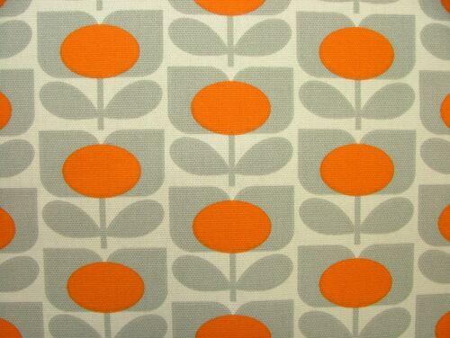 Designer Orla Kiely Ditsy Cyclamen Orange Cotton Curtain Upholstery Fabric