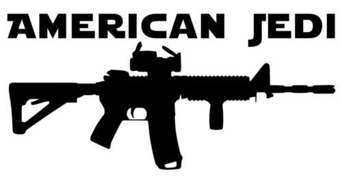 American Jedi AR-15 Die Cut Vinyl Decal