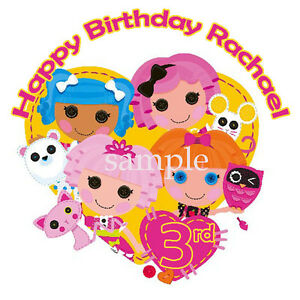 Brilliant Lalaloopsy Round Edible Icing Image Birthday Cake Topper Personalised Birthday Cards Rectzonderlifede