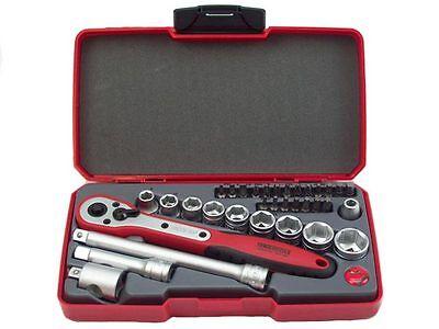"""Teng Tools 3//8/"""" Square Drive 9 Piece TX Security Bits Socket Rail Tools Set"""