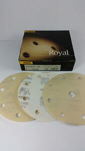 50-x-MIRKA-Royal-Micro-Schleifscheiben-P-1200-150-mm-8-1-loch-9-loch