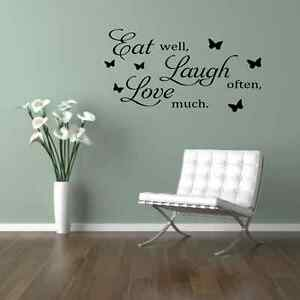 Image Is Loading EAT LAUGH LOVE Kitchen Dining Room Wall Quote