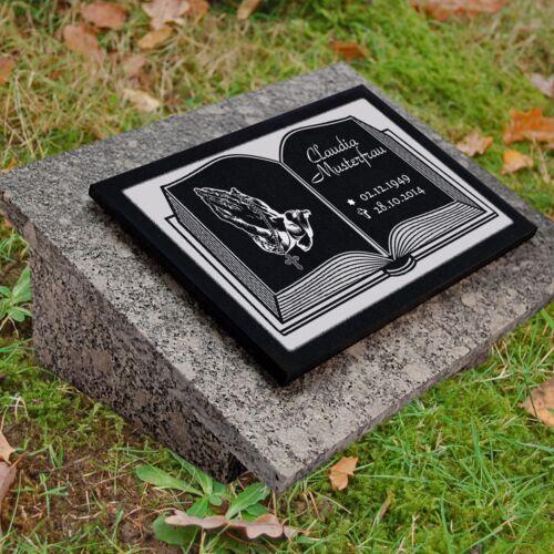 Granit Grabstein GRABPLATTE Grabmal Gedenkstein ► inkl. Gravur ◄ 40x30 cm - gg4s