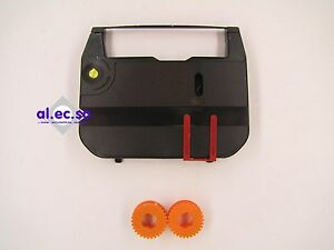 Ribbon/correction tape for sharp PA 4000. 8mm x 150m Black druckend Carbon