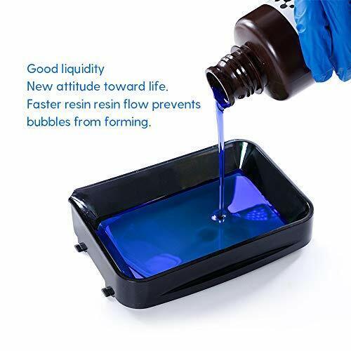 UV 405nm Rapid 3D Photopolymer Resin LCD DLP 3D Printer 500g Transparent Blue