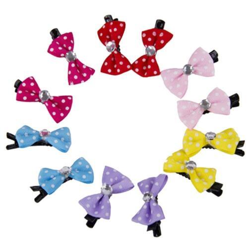 Polka Dot Dog or Cat Bow Dog Hair Clip 10 Pack