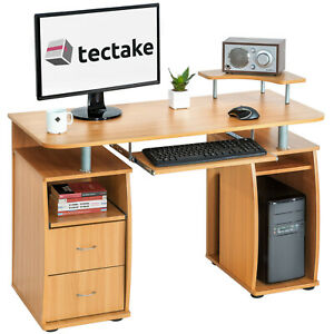 Bureau-informatique-table-de-l-039-ordinateur-travail-mobilier-meubles-pc-hetre
