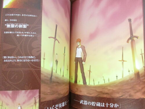 FATE STAY NIGHT Visual Story Art Works Type-Moon Japan Fan Book EB35*