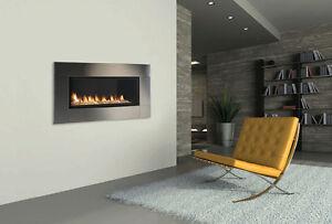 ventless linear gas fireplace