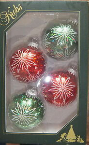 christbaumkugeln kugel glitter rot gr n krebs glas lauscha ebay. Black Bedroom Furniture Sets. Home Design Ideas