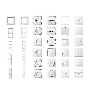 MERTEN-Schalter-Dosen-Rahmen-polarweiss-glaenzend-M-Smart-1-M-grosse-Auswahl