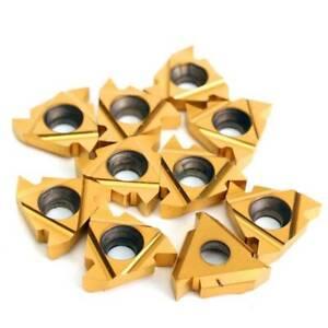 5pcs Alloy 3//8/'/' 16 ER AG60 Carbide Threading Insert for Lathe Turning Tool Set