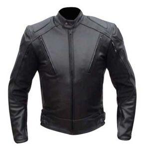 Mens-Motorbike-Motorcycle-Split-Leather-Armour-Jacket