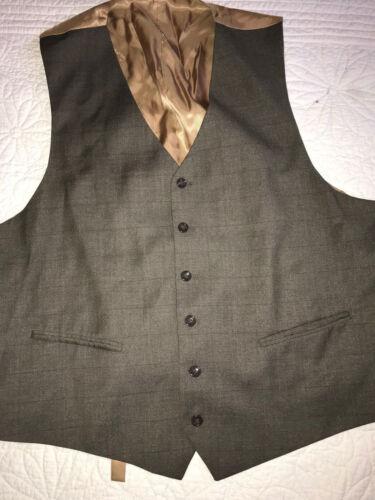 Holmes Tan Plaid Xl eduardiano hombre 50 Chaleco para talla Brown Sherlock Victoriano qSfIgwg